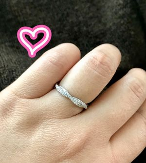14K White Gold Filled Swirl Band Ring for Sale in Danville, CA