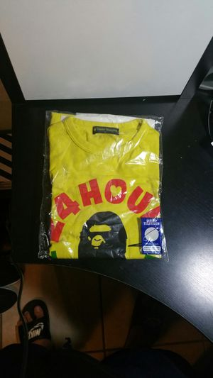 Bape 24 hour television tee (Yellow) for Sale in Miami, FL