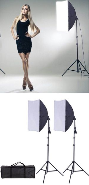 New in box 2 pcs 85 watts soft light softbox photography studio lighting equipment for Sale in Los Angeles, CA