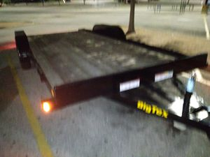 Seven x eighteen car hauler w/Title and will provide bill of sale for Sale in Garland, TX