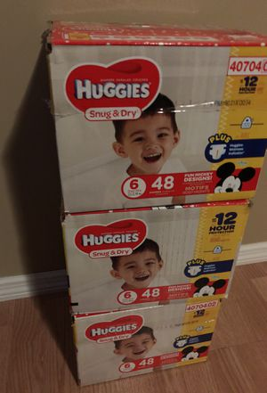 Huggies Snug and dry (3 boxes) for Sale in Apple Valley, MN