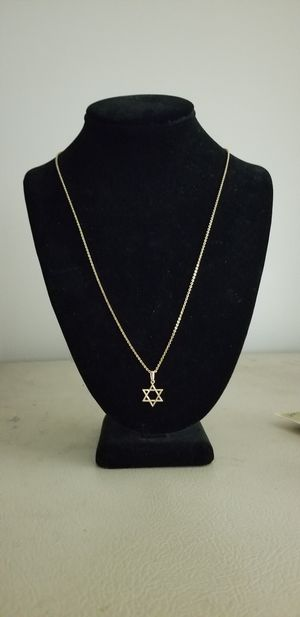 14k necklace & Star of David pendant for Sale in Neffsville, PA