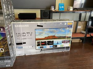 75 INCH SAMSUNG SMART 4K BRAND NEW HUGE SALE TVS 2019 BRAND NEW TVS 1 YEAR WARRANTY for Sale in Alhambra, CA