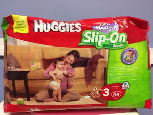 Huggies Slip On size 3 -66 Count for Sale in Bloomfield, CT