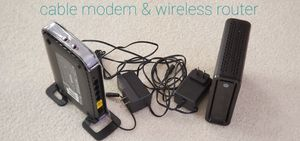 Motorola cable modem and Netgear wireless router for Sale in Naperville, IL