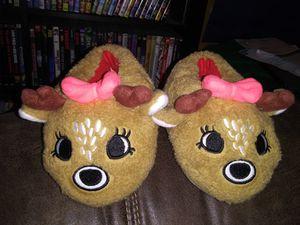 Girls size 2T - 3T Reindeer Slippers ($3) for Sale in BRECKNRDG HLS, MO