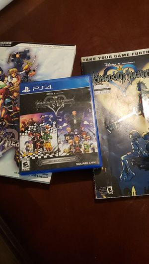Kingdom hearts 1.5 2.5 ps4 with books for Sale in Phoenix, AZ