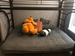 Bunk bed with bottom futon mattress for Sale in Artesia, CA