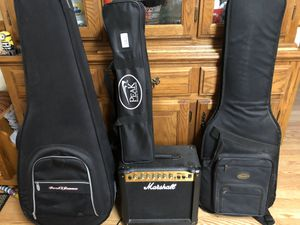 Lucero 200 CE acoustic + Fender Squier Electric guitar + Marshall amplifier for Sale in Apple Valley, MN
