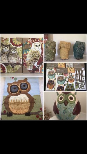 Home Owl Decorations EVERYTHING for $65 WITH tags for Sale in Bowie, MD