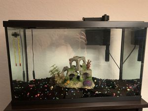 OBO Top Fin 10 Gallon Tank + Supplies for Sale in Davenport, FL