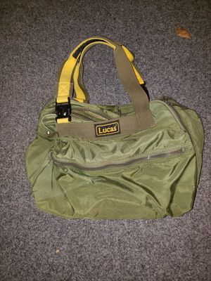 Lucas original green nylon duffel bag. In excellent condition. Pics show different sides of bag. Sells on Ebay for over $40 for Sale in Manassas, VA