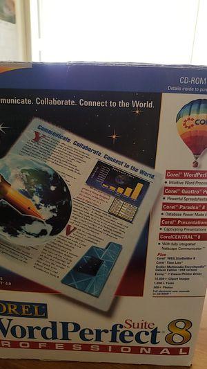 Programa corel wordperfect 8 professional nuevo esta todo new abri uno delos cd pero eso esta new for Sale in Haines City, FL