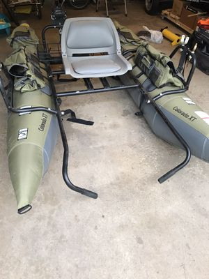 Colorado XT Inflatable Pontoon Fishing Boat, with many extras for Sale in Rolling Meadows, IL