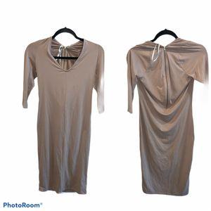 Ladies beige body dress size Large for Sale in Atlanta, GA
