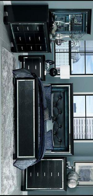 Allura Black LED Panel Bedroom Set for Sale in Silver Spring, MD