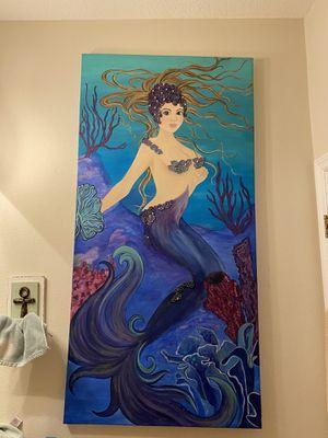 Mermaid art painting for Sale in Tampa, FL