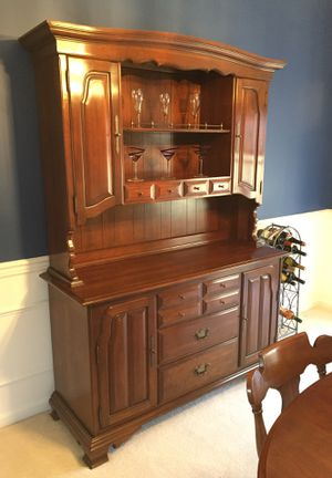 Cherry wood hutch for Sale in Gambrills, MD