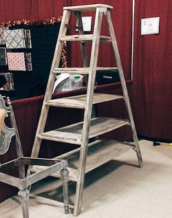 Antique wood ladder shelf for Sale in Pevely,  MO