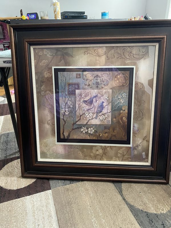 Large Square Framed Picture