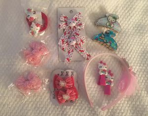 Hello kitty hair accessories set- all included for Sale in Hartford, CT