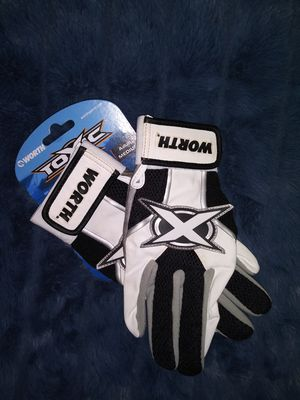 Worth/Toxic Batting Gloves - Baseball/Softball - Adult Med. for Sale in Dinwiddie, VA