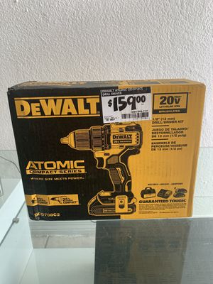 DEWALT DCD708C2 Atomic 20V Max Lithium-Ion Brushless Cordless Compact 1/2 Inch Drill Driver Kit for Sale in Coral Gables, FL