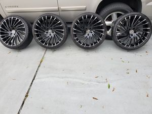 22 inch rims and tires for Sale in St. Petersburg, FL