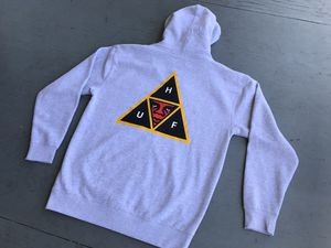 HUF x OBEY Double Sided Andre The Giant Triple Triangle Zip Hoodie Sweatshirt L for Sale in Orange, CA