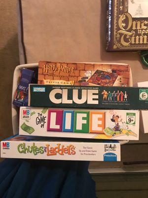 Bin of Board Games for Sale in Jacksonville, FL