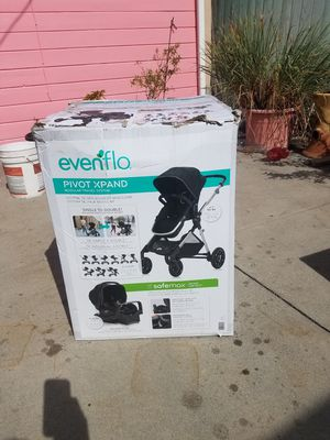 Evenflo Pivot Xpand Modular Travel System with Safemax Infant Car Seat for Sale in Huntington Park, CA