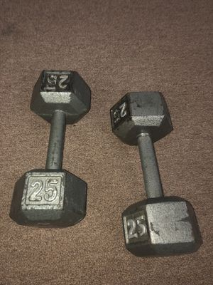 Dumbbell Set - 25 (2x) 5 (2x) for Sale in The Bronx, NY