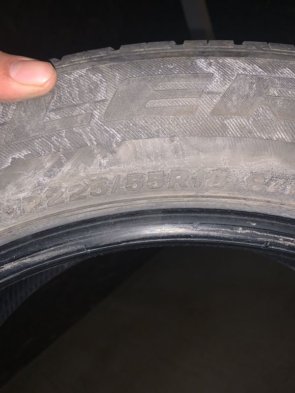 225/55/18 Bridgestone tires