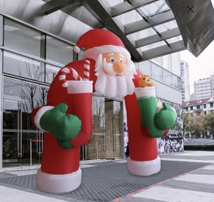 11Ft Christmas Huge Inflatable Santa Candy Canes Arch Archway Blown Air Holiday Outdoor Decor Festive Sleigh LED Lights (New In Box) for Sale in Los Angeles, CA