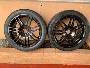 SELLING TIRES WITH NICE RIMS BRAND NEW 2 ONLY for Sale in Sunrise, FL