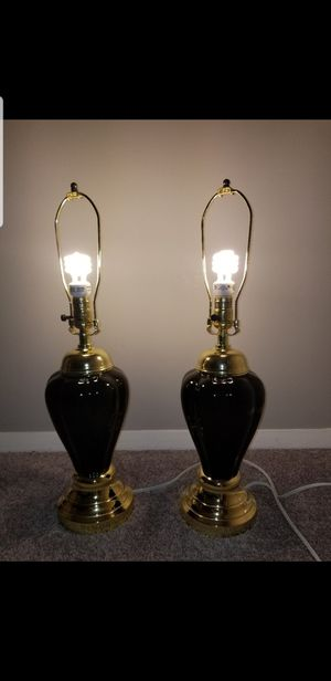 Black & Gold Lamp Pair for Sale in MONTGMRY, IL