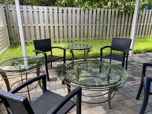 Table Set indoor/outdoor $300 for Sale in Homestead, FL