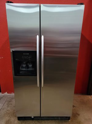 kitchen aid stainless steel fridge good working conditions for $249 for Sale in Wheat Ridge, CO