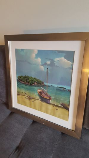 Framed Island Wall Art Painting for Sale in Silver Spring, MD