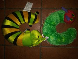 2 caterpillar kids travel neck pillows for Sale in Hawthorne, CA