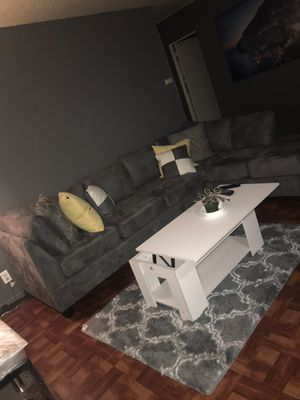 Sectional couches and coffee table for Sale in New York, NY