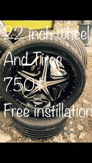 22 inch universal wheels and tires for truck for Sale in Detroit, MI