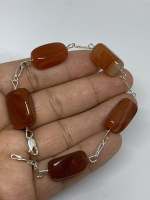 Sterling silver bracelet with amber stone for Sale in Whittier, CA