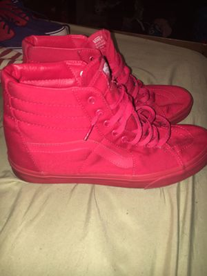 RED HI-TOP VANS SIZE 12 LIKE NEW for Sale in Jim Thorpe, PA