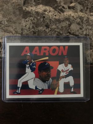 Hank Aaron 1991 UpperDeck Baseball Heroes for Sale in Lowell, MA