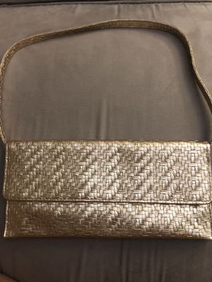 Clutch or handbag (gold color) really cute and versatile for Sale in Rockville, MD