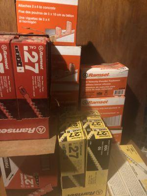 2 ramset nail guns nails and shots for Sale in Sharpsburg, MD