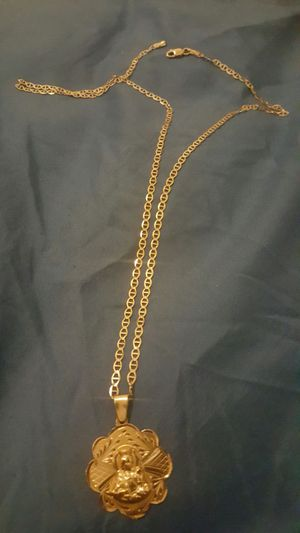 Solid gold necklace 14k charm 10 necklace for Sale in Chicago, IL