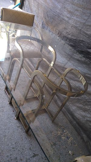 Moving is heavy glass with 6 chairs for Sale in San Jose, CA