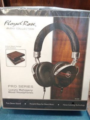 Floyd Rose audio collection Pro Series luxury mahogany wood headphones for Sale in Philadelphia, PA
